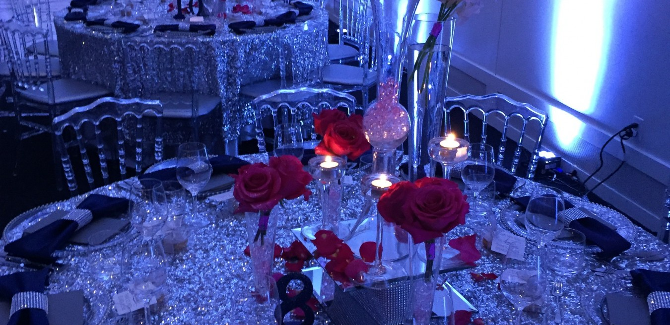 Red Romance with Clear chairs