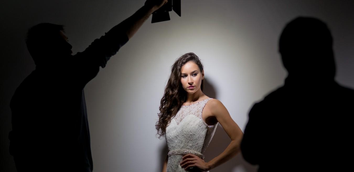 Model Posing In A Studio